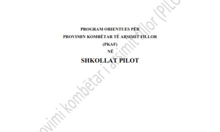 Programi orientues për provimin kombëtar të arsimit fillor (PKAF)