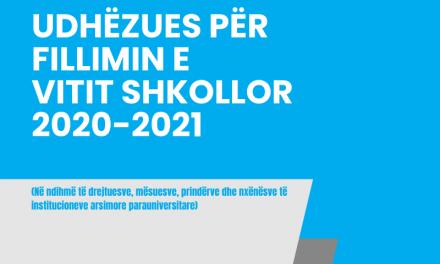 Udhëzuesi për Fillimin e Vitit Shkollor 2020-2021