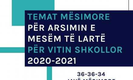 Temat Mësimore për Arsimin e Mesëm të Lartë për Vitin Shkollor 2020-2021