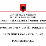 Programi orientues – Punonjesi social
